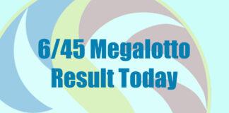 6/45 Megalotto Result
