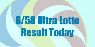 6/58 Ultra Lotto Result
