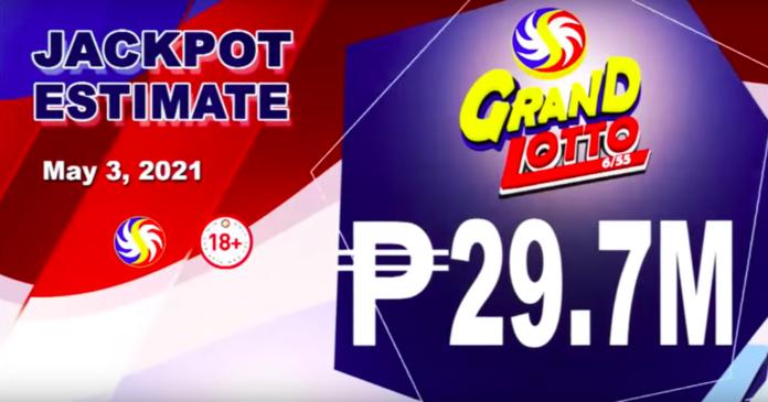6/55 Grand Lotto Result